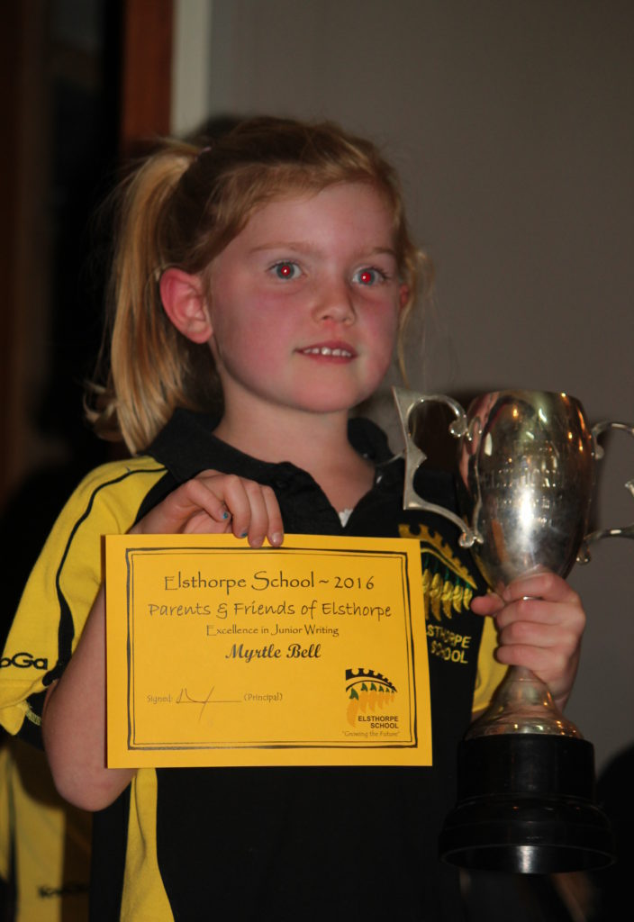 Myrtle Bell PAFs Cup Excellence In Writing Junior School
